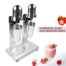 560w Double Head Milk Shake Maker Commercial Beverage Shaker Machine 2 Speed New