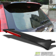 For Matt Black 2007-2011 Honda CRV CR-V Rear Trunk ABS Spoiler w/LED Brake Light