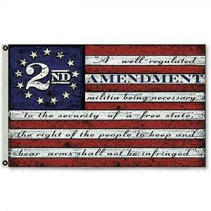 3x5FT 2nd Amendment American USA 13 Star Flag NRA Banner Gun Rights Patriot 2A