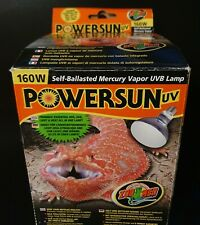 Zoo Med POWERSUN UV 160W Reptile Heat Bulb Self-Ballasted Mercury UVB PUV-10E