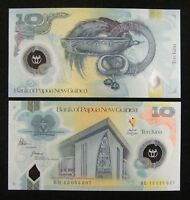 PAPUA NEW GUINEA Polymer Banknote 10 Kina 2015 UNC