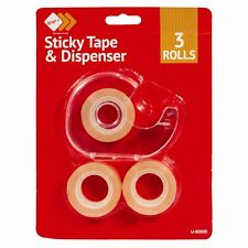 Mini Sticky Tape Dispenser - 3 Piece Brand New