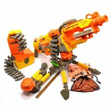 Tested NERF LOT; VULCAN EBF-25 *Manual Fires Only* 3-AMMO BELTS Cases TRIPODS ++