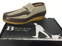 "british walkers mens shoes Leather Slip On Printed""B"" Size 11.5"