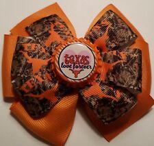 Texas Longhorns Inspired Hair Bow Longhorns Bow Barrette Clip Texas Love Forever