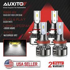AUXITO Combo H11 9005 LED Headlight For Chevy Silverado 2500 3500 HD 2007-2018