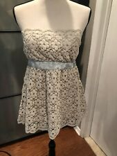 Wendy Hil Crochet Strapless Top Sz M