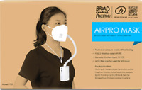 [NEW PACK]BROAD AirPro Mask Electrical Air Purifying Respirator/HEPA filter