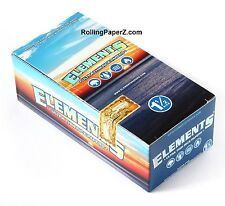 Elements Rice Cigarette Rolling Papers 1 1/2 Full Box 25 Packs/33 leaves each