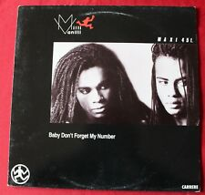 Milli Vanilli, baby don't forget my number, Maxi vinyl