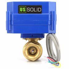 """Motorized Ball Valve - 1/2"""" Brass Electrical Ball Valve 9-24V 5 Wire Setup"""