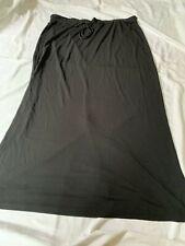 Liz Claiborne (Elisabeth range ) Black skirt-elasticated waist with tie, XXL New