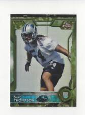 2015 Topps Chrome Camo Refractor #116 Shaq Thompson Rookie Panthers /499