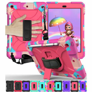 For Apple iPad 8th 7th Generation 10.2'' Heavy Duty Strap Case Shockproof Cover
