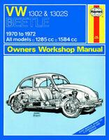 VW 1302 & 1302S (70 - 72) Haynes Repair Manual