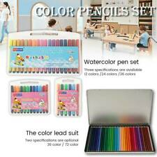 72 x Colouring Colour Pencils Set Art Supplies Sketch Draw Drawing Coloured Kids