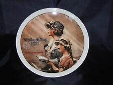 """1977 Norman Rockwell Mothers Day Knowles Collectors Plate """"Faith"""" Number 24401"""