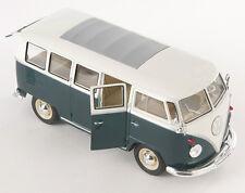 BLITZ VERSAND VW Ciassical Bus T1 1962 grün-beige Welly Modell Auto 1:24 NEU OVP