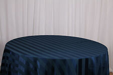 """TABLECLOTHS 90"""" X 90"""" 06 COLORS SATIN STRIPED WEDDINGS EVENTS"""