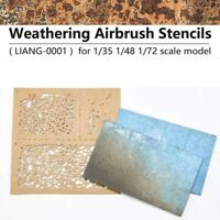 LIANG 0001 WEATHERING AIRBRUSH STENCILS FOR 1/35 1/48 1/72 SCALE MODEL