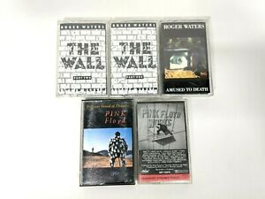 Lot of 5 Pink Floyd & Roger Waters Audio Cassette Tapes Wall Works Amused Sounds