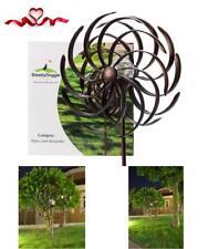 Garden Wind Spinner LED Lighting Solar Powered Metal Ball Large Yard Decor Art