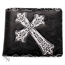 WALLET CELTIC CROSS GOTHIC FOLDING VISA CARDS (not leather) LEATHERETTE NEW