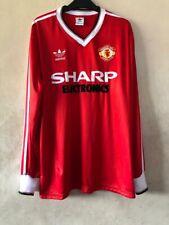 Manchester United Home Shirt 1982-83 Sharp Electronics, Size S M L Xl 2Xl