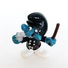 Smurfs Policeman Smurf Police Figure Cop Whistle Vintage Toy Figurine Peyo 20123