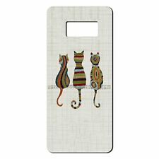 For Samsung Galaxy S8 Silicone Case Embroidery Effect Cats - S4495