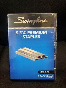 Swingline S.F. 4 Premium Staples 5000 Per Box  - 5 Box Pack  #35481  FREE SHIP