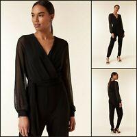 Wallis Black Jumpsuit Size 10 | Embellished Sleeve Style | BNWT | £55 RRP | New!