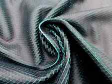 lambskin leather hide skin pelt Black on Emerald Green Laser Cut Scale pattern