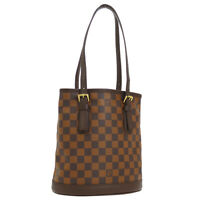 LOUIS VUITTON MARAIS SHOULDER TOTE BAG DAMIER EBENE N42240 AUTHENTIC NR13991e