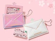 Starbucks Sakura Cherry Blossoms Iridescent Card holder With card Pin Intact Set