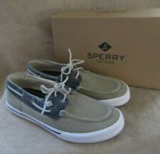 SPERRY Bahama II Taupe Navy Leather Boat Washed Sneaker Shoes US 11.5 EUR 45 NWB