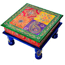 Multi Color Chowki Bajot Chaurang Patli Pooja Small Table Stool for Daily Prayer