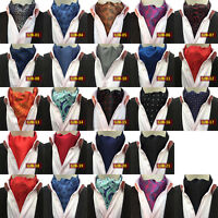 Fashion Men's Ascot Cravat Paisley Skinny Silk Tie Jacquard Woven Party Necktie