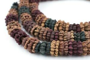 Multicolor Aromatic Moroccan Eucalyptus Beads 10mm Morocco African Unusual Wood