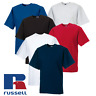 Russell MEN'S T-SHIRT HEAVYWEIGHT TOP SUMMER TEE SOFT COTTON PREMIUM PLAIN S-2XL