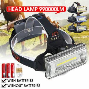 990000LM LED USB Rechargeable Headlamp Headlight Fishing Torch Flashlight