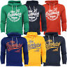 Mens Sweatshirt Crosshatch Over The Head Hoodie Printed Pullover Top Fleece New