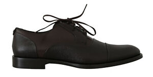DOLCE & GABBANA Shoes Brown Leather Laceups Dress Mens s. EU43 / US10