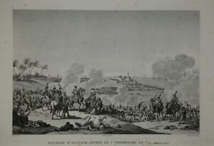 Bataille D`Aboukir 1799. Napoleon. Copperplate From Couche. Ca 1850