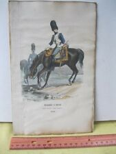 Vintage Print,GENADIER A CHEVAL,Military European,c1848