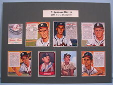 Milwaukee Braves -1957 World Champions signed by Joe Adcock