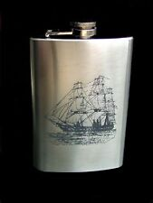 ENGRAVED 9oz HIP FLASK FREGATA free personalised hf26