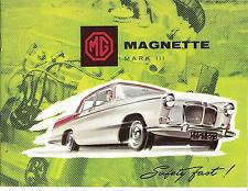 MG  Folder    1959  MG  Magnette Mark III