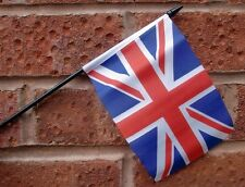 UNION JACK flag PACK OF TEN SMALL HAND WAVING FLAGS GREAT BRITAIN BRITISH UK