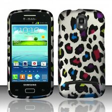 For Samsung Galaxy S Relay 4G Rubberized HARD Case Snap On Phone Rainbow Leopard